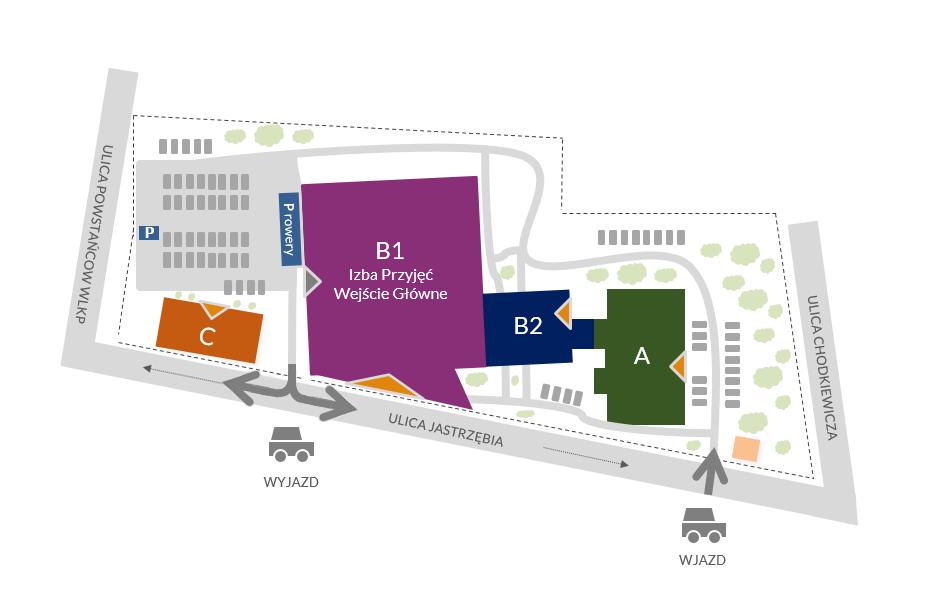 mapa szpitala