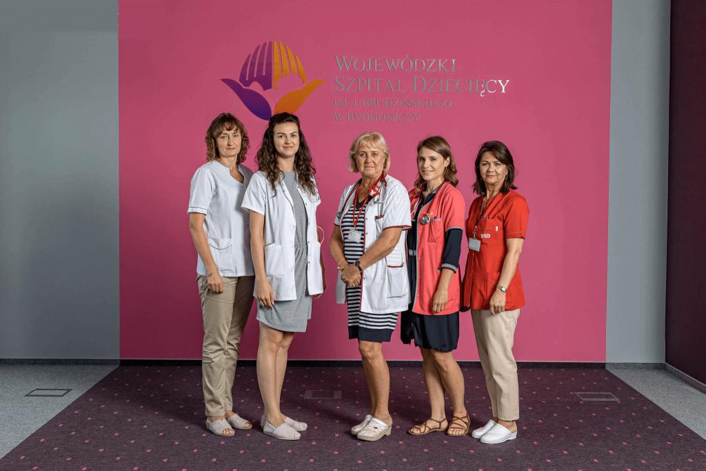 Pracownicy na oddziale kardiologii